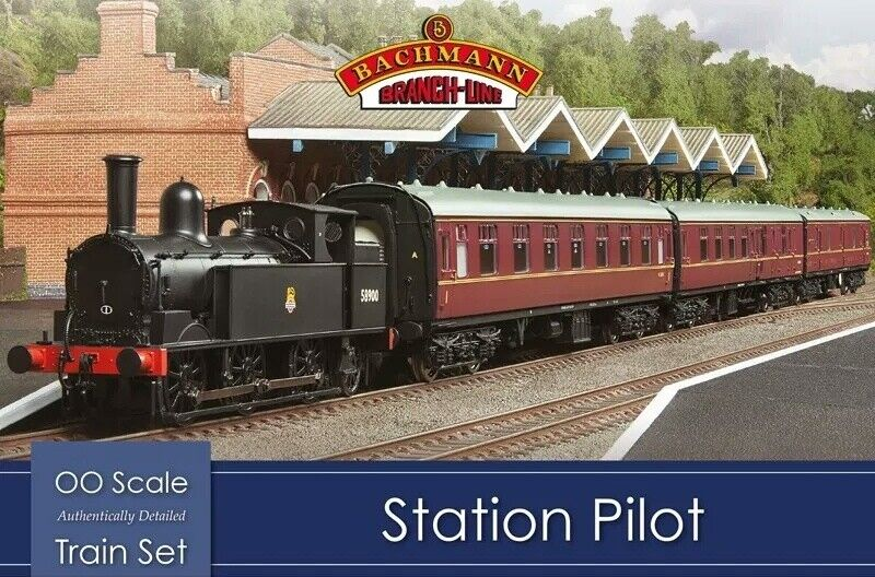 Bachmann 30-180 Station Pilot Steam OO 1 76 Scale Train Set (Hornby Compatible)
