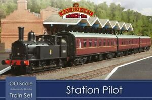 Bachmann-30-180-Station-Pilot-Steam-OO-1-76-Scale-Train-Set-Hornby-Compatible