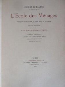 H-de-Balzac-L-039-ecole-des-Menages-Tragedie-EO-illustree-Ex-JAPON-Carteret-Ed-1907