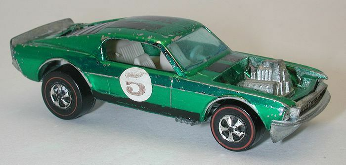 Redline Hotwheels Green OVER CHROME 1971 Boss Hoss oc8023