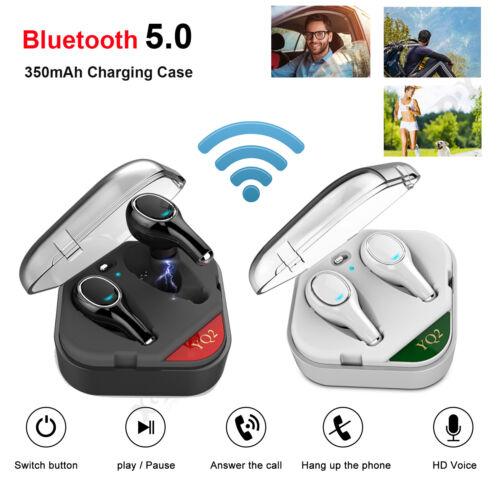 Mini Bluetooth Kopfhörer Stereo Kopfhrer Sport Ohrhörer Heavy Bass mit Mikrofon
