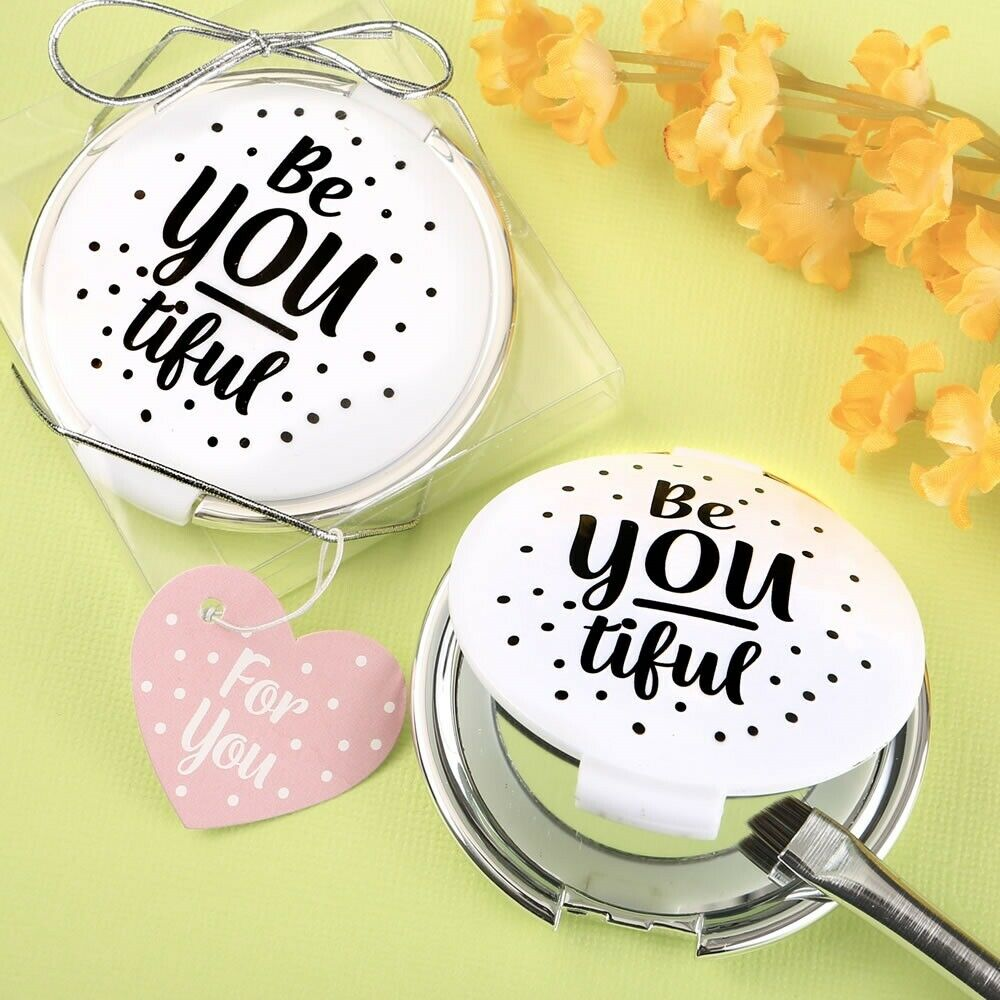 40 BE-vous-TIFUL Compact Miroir Mariage Bridal Shower 16 Birthday Party Favors