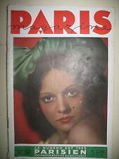 PARIS MAGAZINE N° 9 TAHITIENNE PHOTOS KERTESZ CAILLAUD SCHALL JABLONOWSKY 1934