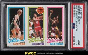1980 Topps Basketball Larry Bird & Magic Johnson ROOKIE RC PSA 9 MINT