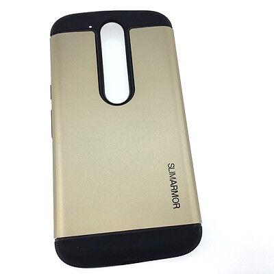 Motorola Moto G4 PLUS Extra Slim Hybrid Hard Armour Tough Shockproof Cover Case