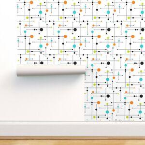 Wallpaper Roll Mid Century Modern Atomic Mod Retro Geometric Space 24in x 27ft