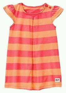 NWT Girls Flamingo Blue Striped Sleeveless Dress 2T 3T 4T 5T 6