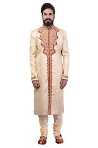 Fougueux Men's Indian Indo Western Sherwani 2pc Suit (dans Le Monde Entier Post)-afficher Le Titre D'origine