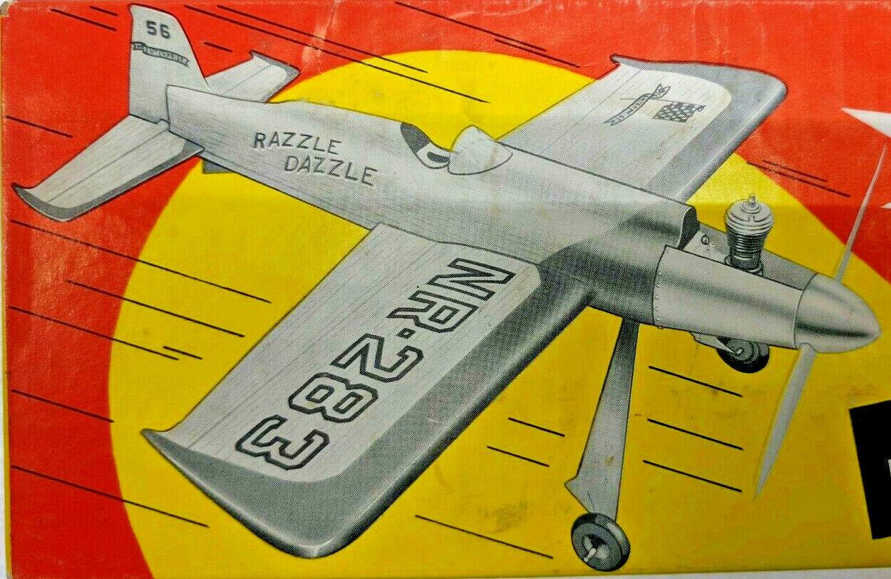 15-1 2   RAZZLE DAZZLE Control Line Balsa Model Airplane Kit Enterprise 956-250