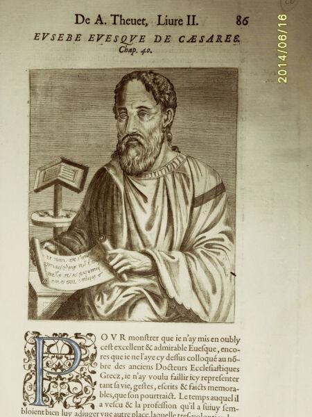 1584 André Thévet. Xilo_ Eusebe Evesque De Caeasarea+++ Sconti