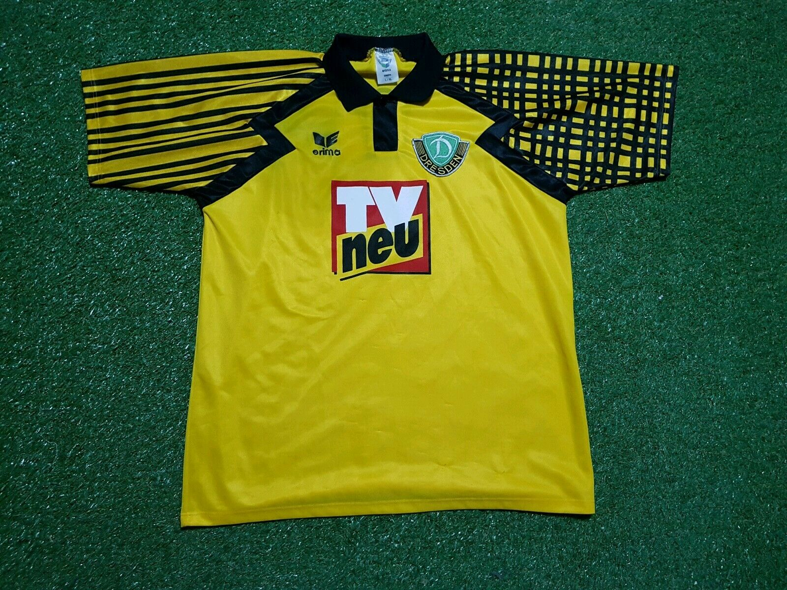 Dynamo Dresden Trikot L XL erima 1994 1995 Football Shirt jersey TV Spielfilm