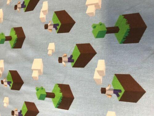 Tela De Algodón Jersey Azul Para Juegos Mundial de bloque de dibujos animados Minecraft