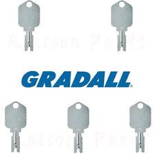5 Gradall Telehandler Ignition Keys 7738 4578 Hyster Clark Crown Forklift