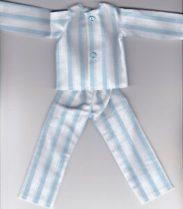 7d01f3ce9f CHRISTMAS ELF-Homemade Blue and White Striped Pajamas fits Christmas ...