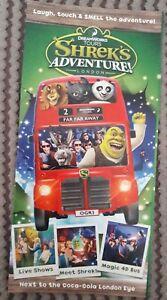 Dreamworks-Tours-Shrek-039-s-Adventure-London-promo-flyer-gatefold-Kung-Fu-Panda