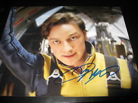 JAMES MCAVOY SIGNED AUTOGRAPH 8x10 PHOTO XMEN PROMO IN PERSON COA AUTO RARE E
