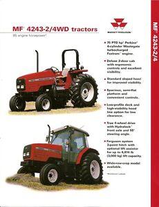 farm tractor brochure massey ferguson mf 4243 2 4wd 1998 rh ebay com massey ferguson 4243 service manual 4243 Massey Ferguson Hyd Pump