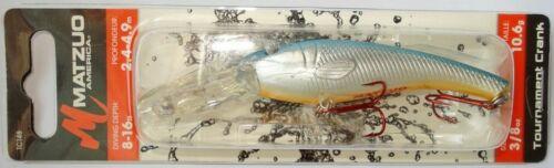 Perch Catfish Matzuo Tournament Crank 3in Wobbler Zander Lures Pike