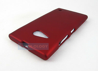 RED RUBBERIZED HARD SNAP-ON CASE COVER FOR NOKIA LUMIA 735 ACCESSORY