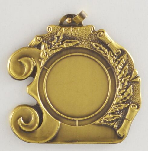 Reste Schwere Medaillen Metall 55mm incl 25mm Emblem silber Pokale & Preise bronzefarben