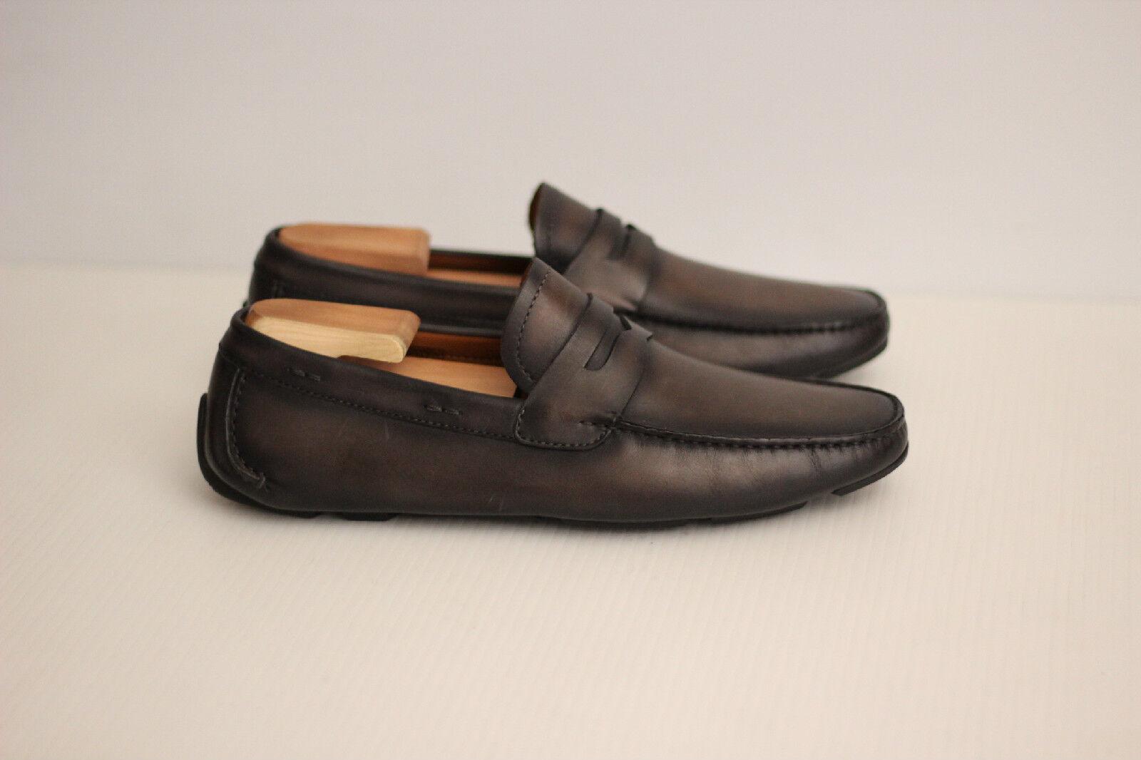 New Magnanni'Dylan 'Slip on Leather Driver scarpe  - grigio - 8.5 M - 15759 (N17)  alta qualità e spedizione veloce