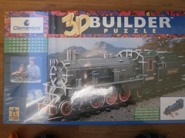 Clementoni 3D Builder Puzzle  LOCOMOTIVE .