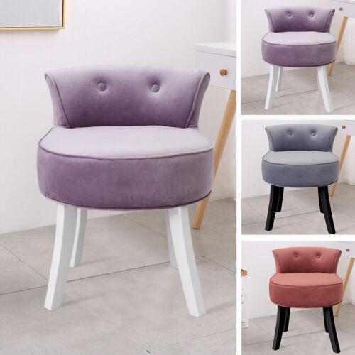 Retro Bedroom Dressing Table Stool Velvet/Crushed Velvet Piano Chair Wooden Legs