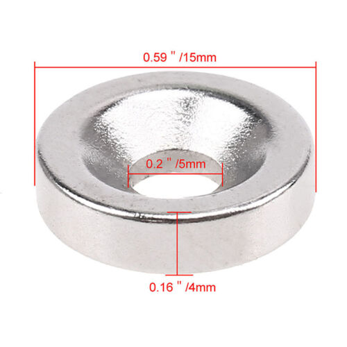 1//10//20Pcs N35 Super Strong Rare-Earth Neodymium Round Disc Cylinder Magnet Hole