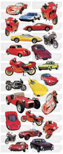 """BEAUTIFUL FUN STICKERS /"""" CARS /& MOTORBIKES /"""" FOR CARDS /& CRAFT"""