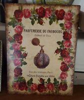 Plaque «parfumerie Du Faubourg»2533 Cm