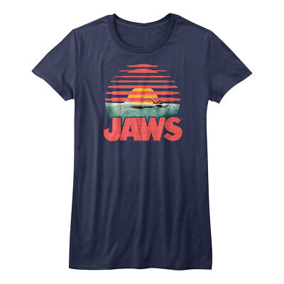 Womens Jaws Movie Poster Sublimation Print T Shirt
