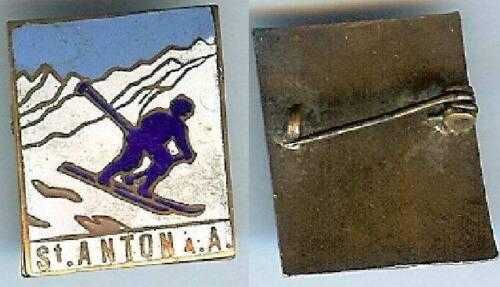 Ski et montagne - SANKT ANTON am ARLBERG Autriche émail ancien très belle qualit