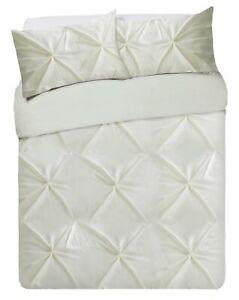 Hadley Cream Pintuck Bedding Set Super Kingsize Ebay