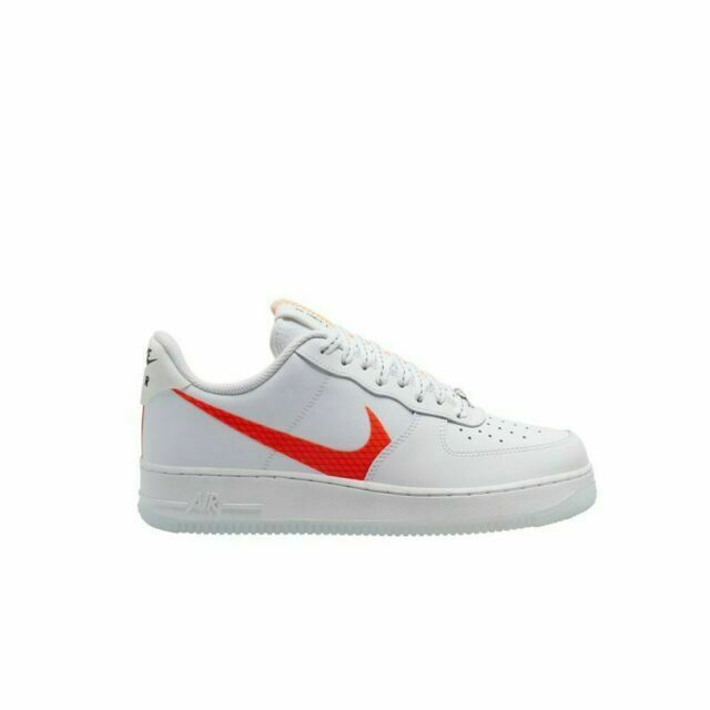 Size 9 - Nike Air Force 1 Low Orange Swoosh 2020 for sale online ...