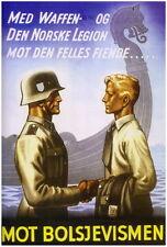 German WW2 Norsk Norway Bolsjevismen Waffen SS Poster #4
