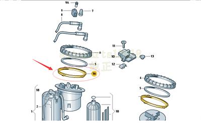 Genuine Fuel Gauge Sensor Retaining Union Nut For Audi A4S4A5S5A6S6 4F0201921A
