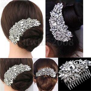 Peigne-a-Cheveux-Barrette-Pince-Cristal-Cheveux-Chignon-Mariee-Bijoux-Mariage