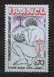 FRANCIA-FRANCE-1975-MNH-SC-1438-Student-health-found