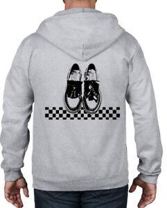 SKA-DANCING-SHOES-ZIP-HOODIE-Mod-Skinhead-T-Shirt-Madness-Specials-2-Tone