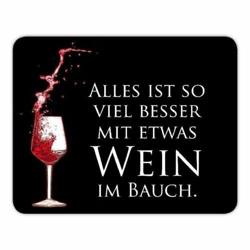 """Sprüche Mousepad /""""...mit etwas Wein im Bauch."""" GAME OF THRONES 24x19cm"""