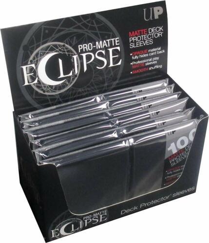 600 Ultra Pro Eclipse Black Matte Magic The Gathering Pokemon Deck Sleeves NIP