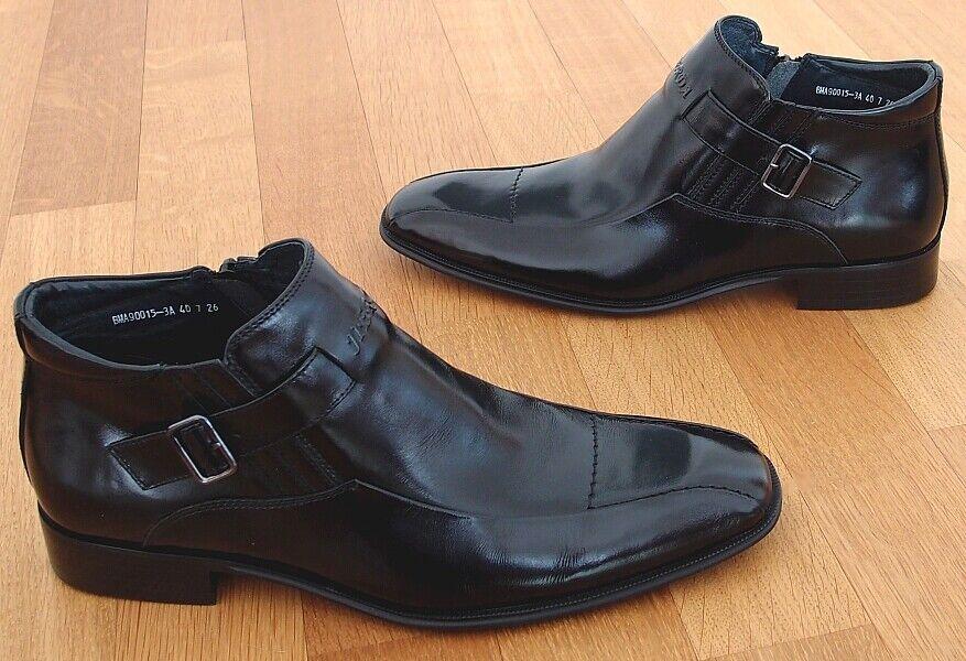 Jierda-semi botas zapatos de cuero-Color  negro-tamaño  40 (6,5)