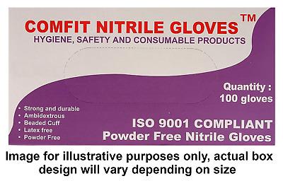 Saville NG201L Nitrile Powdered Disposable Gloves Large
