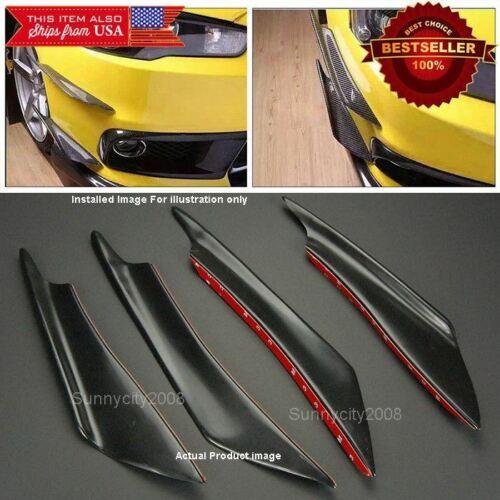 4 Pcs Black Bumper Splitter Fins Wing Spoiler Canards Diffuser for Mitsubishi