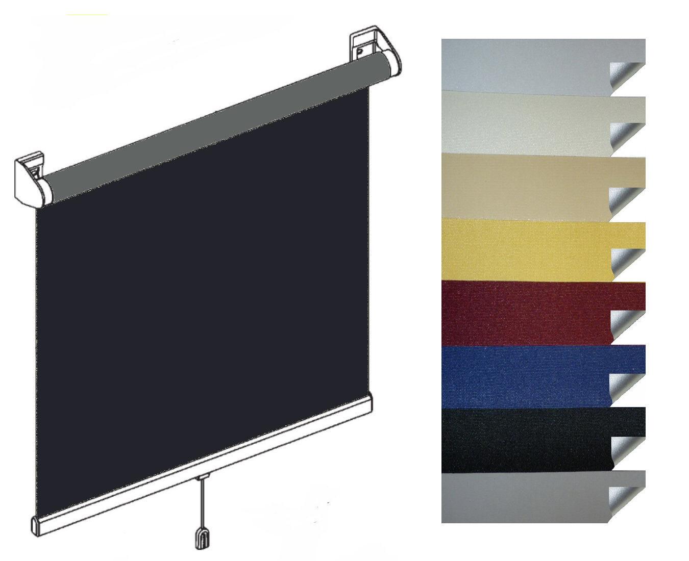 TOP Schnapprollos Springrollos Verdunklungsrollos ThermGoldllo außen silberfarbig       Qualität und Verbraucher an erster Stelle  0d7815