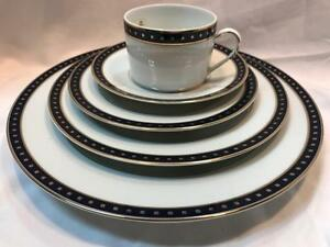 Christofle-Phoebe-Babylone-Bleu-5pc-Place-Setting-New