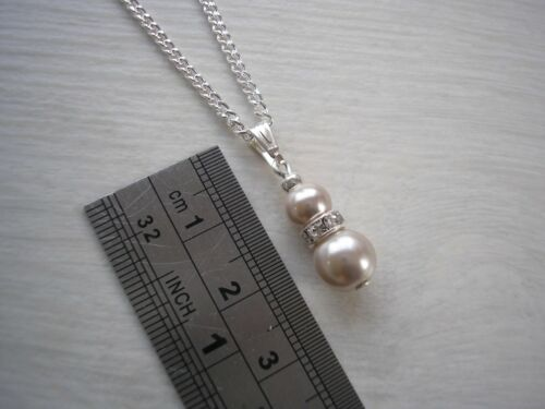 Dainty Pearl /& Diamante Necklaces for women Girls Childs Bridesmaids wedding 57S