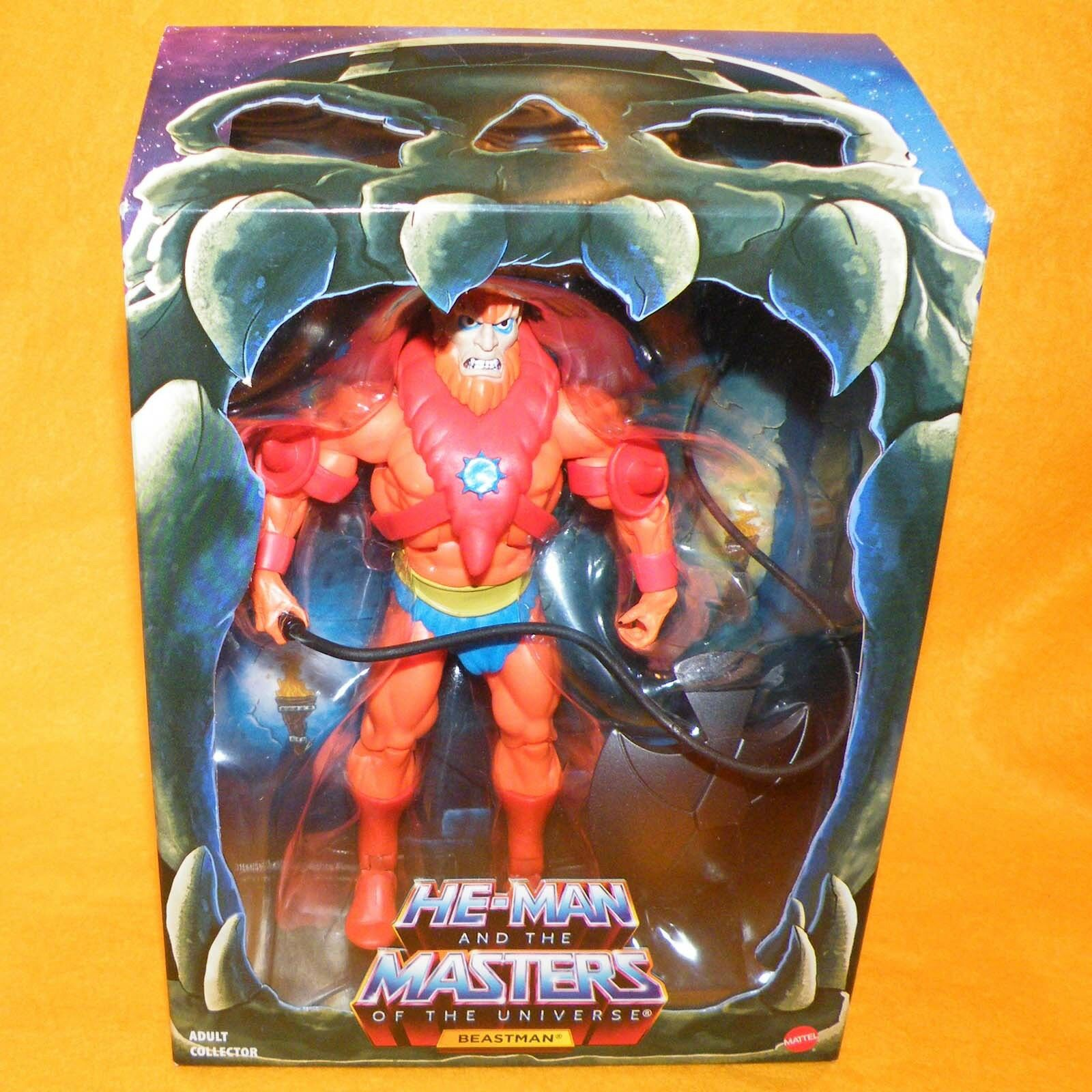 MATTEL HE-MAN MOTU MASTERS OF THE UNIVERSE CLUB grauSKULL FILMATION BEAST MAN