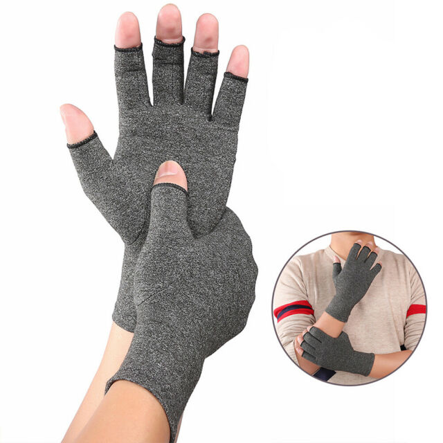 BG_ Finger Arthritis Compression Gloves Hand Wrist Joint Pain Relief Support New