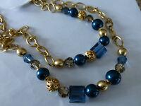 Brighton Contempo Chic Long Crystal/gold Necklace